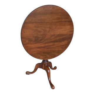"STATTON Oxford Cherry Tilt Top Accent Pedestal Table 29.5""W For Sale"