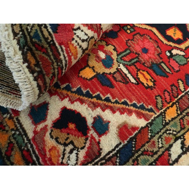 """Blue Vintage Persian Hamadan Rug – Size: 2' 5"""" X 4' 1"""" For Sale - Image 8 of 9"""