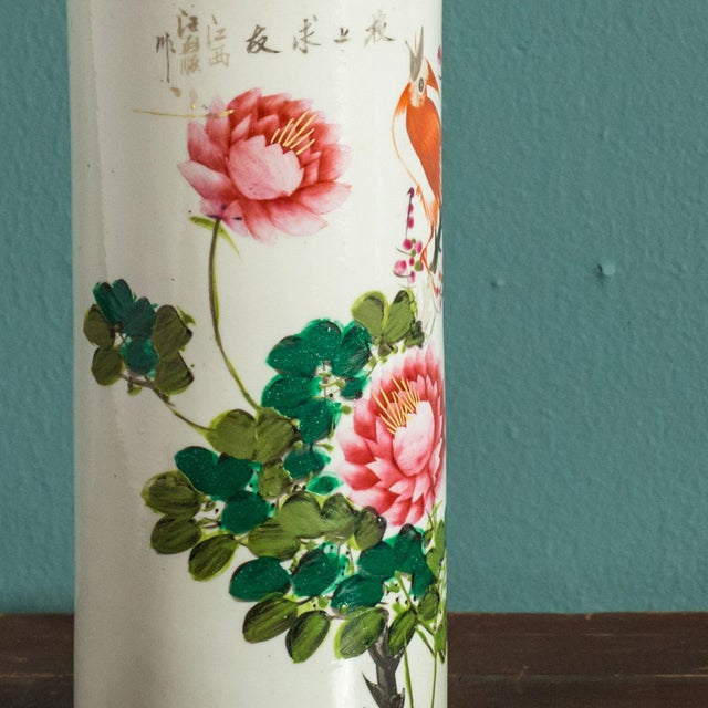 Hand-Painted Japanese Custom Lamp For Sale - Image 4 of 6