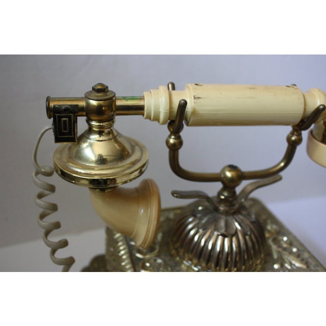 Hollywood Regency Brass Phone - Image 4 of 5