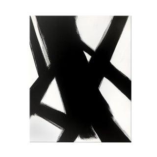 Abstract Black Slash No. 4 - 36 X 48 For Sale