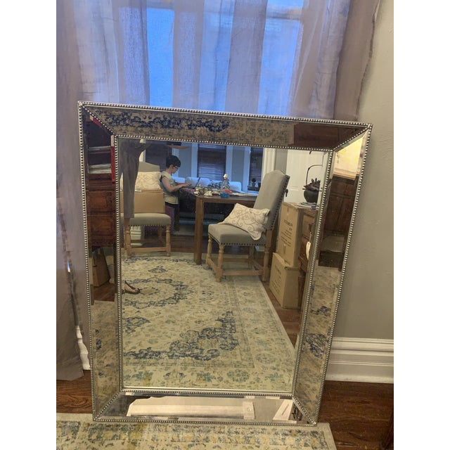 2000 - 2009 Restoration Hardware Venetian Beaded Mirror For Sale - Image 5 of 11