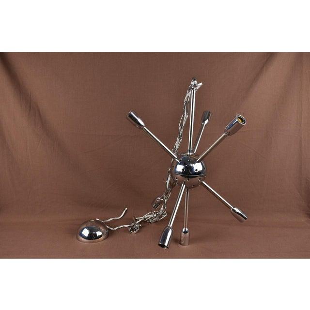 1960s 1960s Vintage Sputnik Chrome Chandelier For Sale - Image 5 of 7