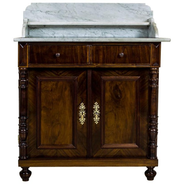 19th Century Basin Cabinet Veneer with Walnut For Sale - Image 13 of 13