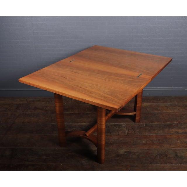 1930s Art Deco Walnut Folding Tea Table For Sale - Image 11 of 12