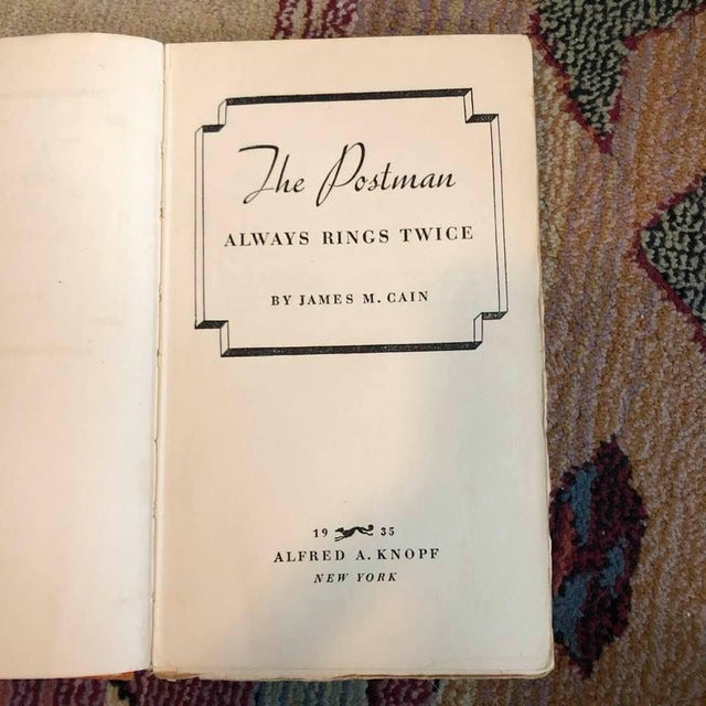 By James M Cain Published in 1935 First Edition. Softcover.