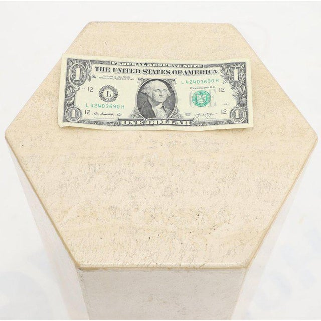 Stone Mid-Century Modern Travertine Marble Tall Tower Shape Table Pedestal For Sale - Image 7 of 13