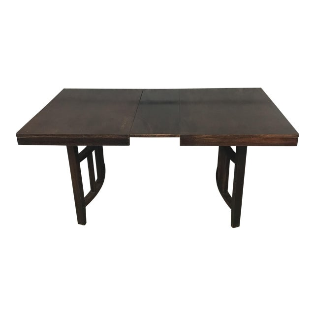 Red Mahogany Stained Wood Dining Table For Sale