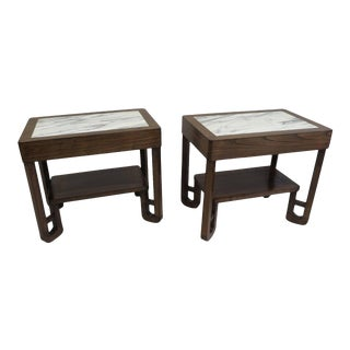 Mid 20th Century Art Deco Marble-Top Side Tables - For Sale