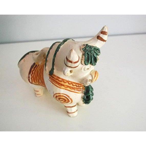 Vintage Peruvian Pottery Bull, Terra Cotta Torito De Pucara - Image 6 of 8