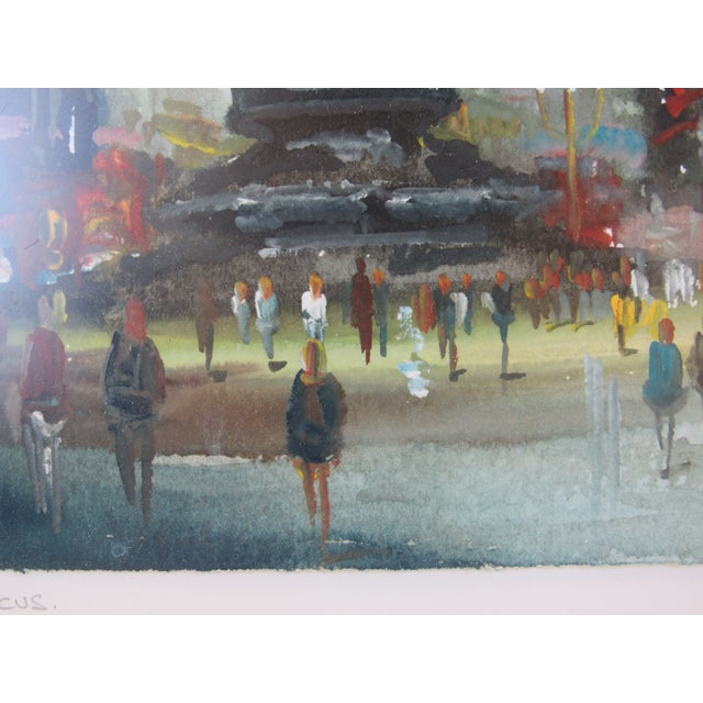"""""""Eros"""" Piccadilly Circus Painting For Sale - Image 4 of 13"""