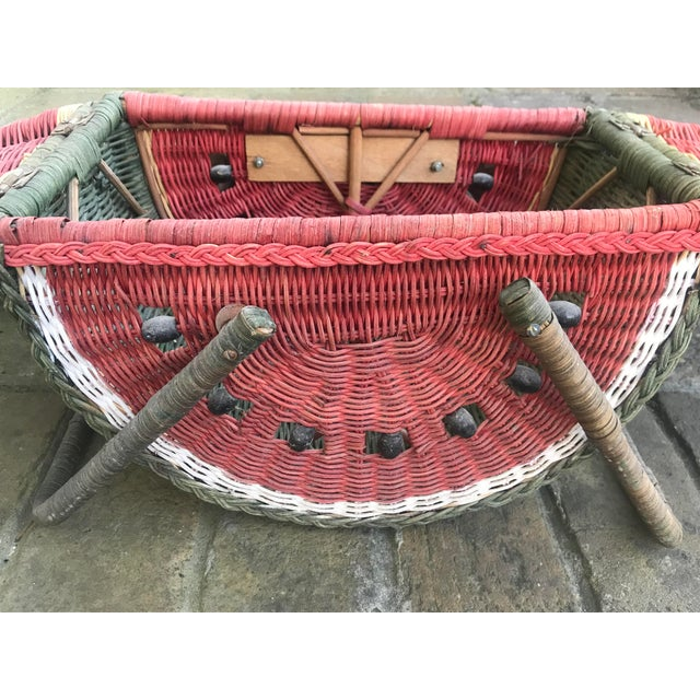 Country Watermelon Picnic Basket For Sale - Image 12 of 13