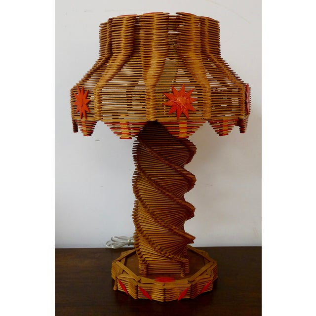 Popsicle Stick Table Lamp - Image 2 of 4