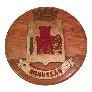 Bohuslan Family Crest Wood Plaque For Sale
