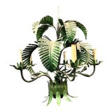 Image of Mid Century Painted Tole Palm Frond Chandelier For Sale