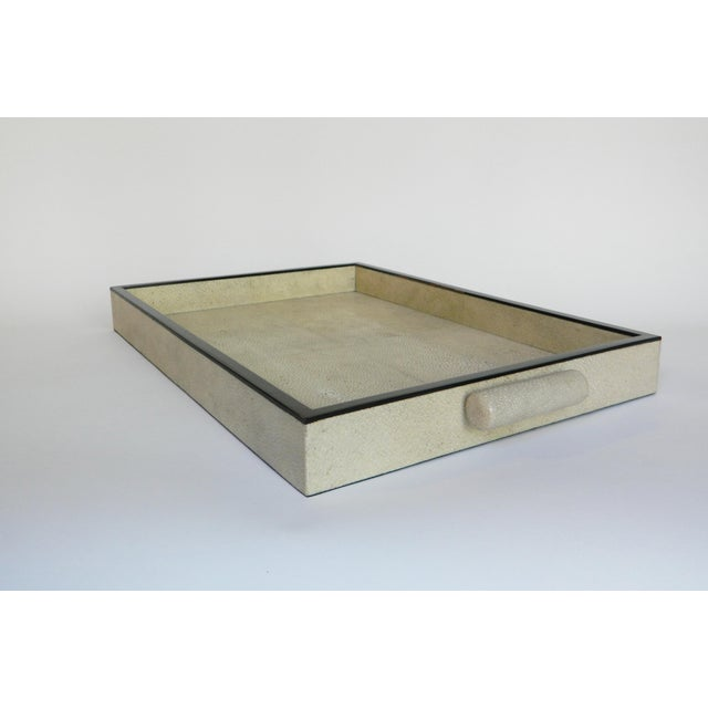 Modern Natural Shagreen Rectangular Tray For Sale - Image 3 of 5