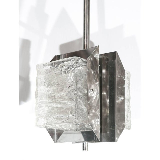 Contemporary Panel Pendants by Mazzega (2 Available) For Sale - Image 3 of 8
