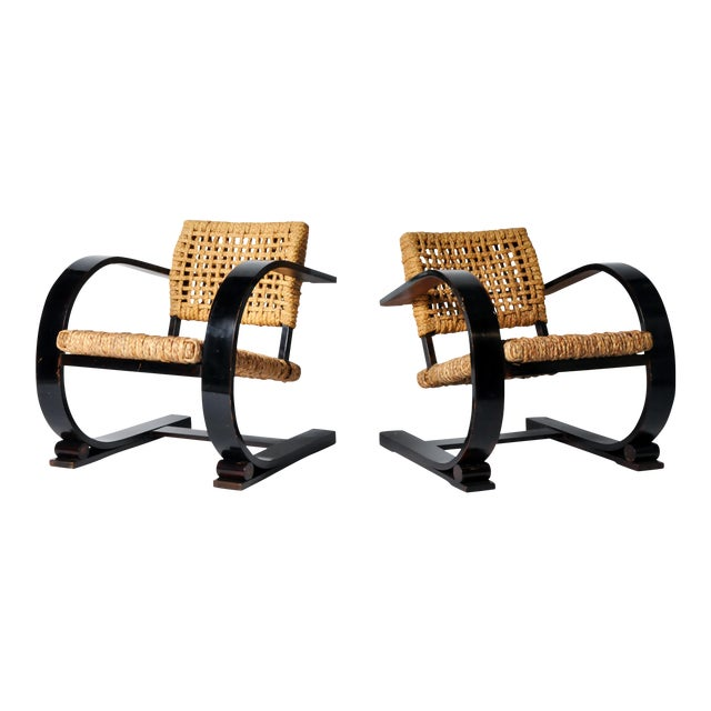 Pair of Art Deco Bentwood Arm Chairs - Image 1 of 11