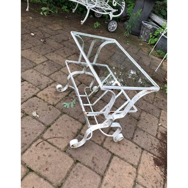 Salterini Style Outdoor Wrought Iron Side Table - Image 2 of 9