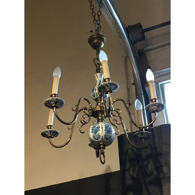 Delft blue porcelain chandelier chairish delft blue porcelain chandelier image 2 of 4 mozeypictures Gallery