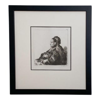 Late 18th Century Rembrandt Etching #31, by Francesco Novelli For Sale