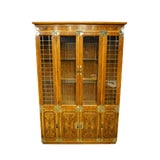 Image of 20th Century Chinoiserie Bernhardt Furniture Illuminated Display China Cabinet For Sale