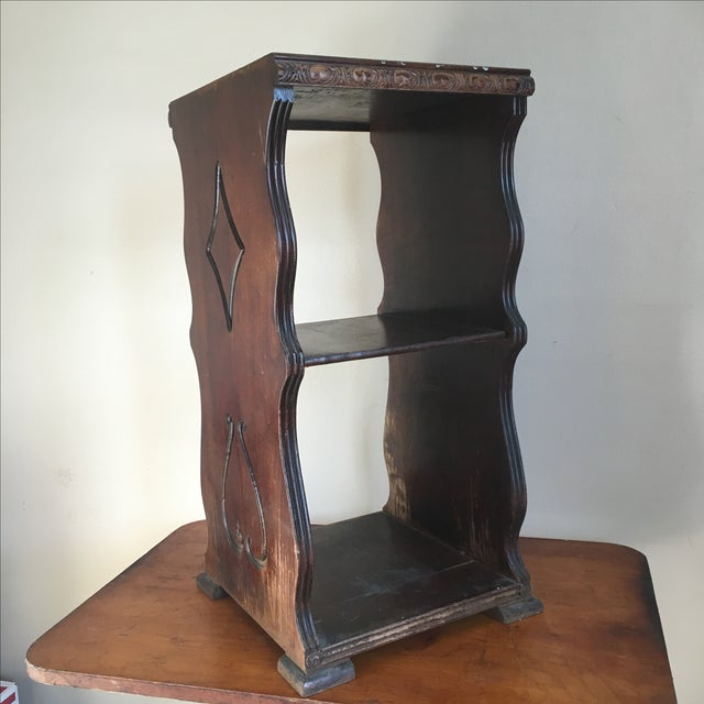 Antique Wooden Telephone Stand For Sale - Image 4 of 10