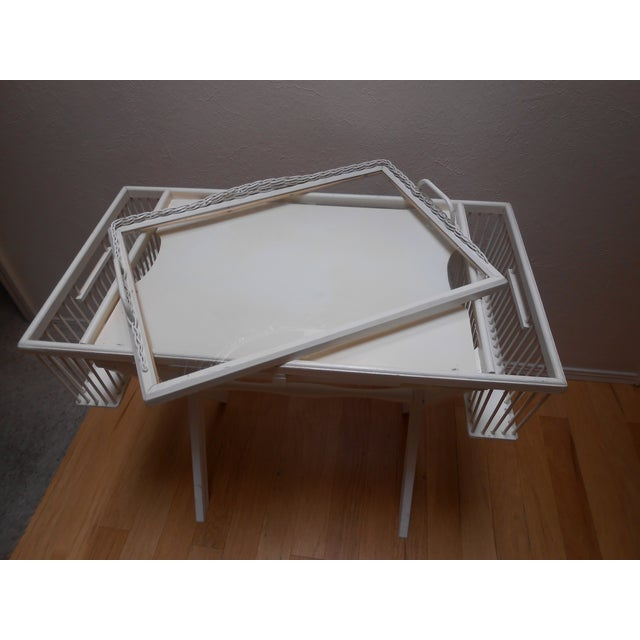 Lap Tray Side Table Antique White - Image 4 of 10