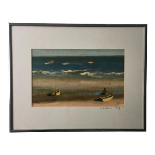 Original Seascape Painting 1977