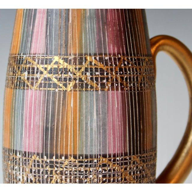 Mid Century Bitossi Raymor Seta Italian Pottery Londi Pitcher For Sale - Image 9 of 13