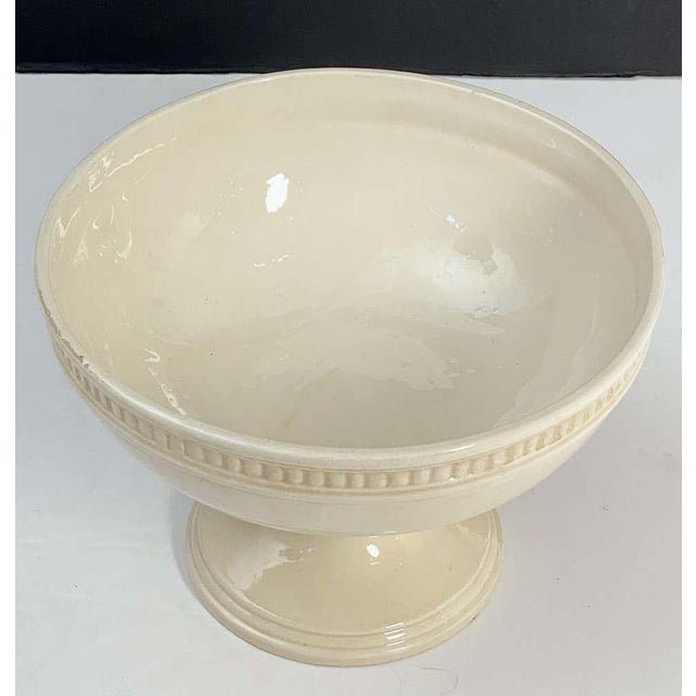 Italian Creamware Tureen or Bowl on Pedestal With Mixed Fruit Topiary Top For Sale - Image 4 of 13