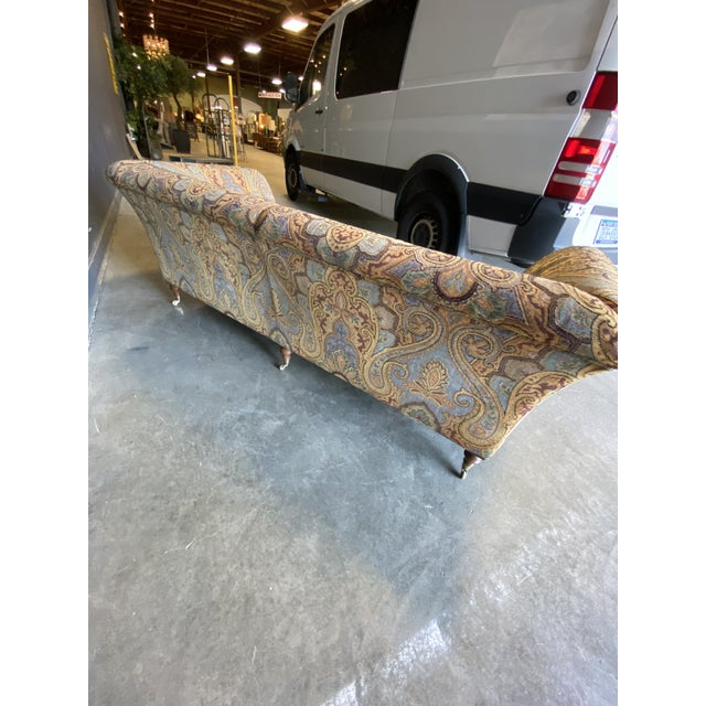1990s Vintage Italian Etro Paisley Tapestry Fabric Sofa For Sale - Image 9 of 12
