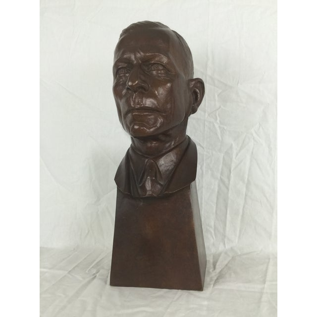 """Bronze bust sculpture of """"Young King Henry"""" by Carl Mose (American 1903-1973). This skillfully crafted sculpture is in..."""