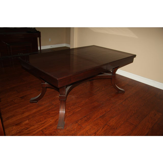 Williams-Sonoma Williams-Sonoma Home Solid Mahogany Dining Table For Sale - Image 4 of 10
