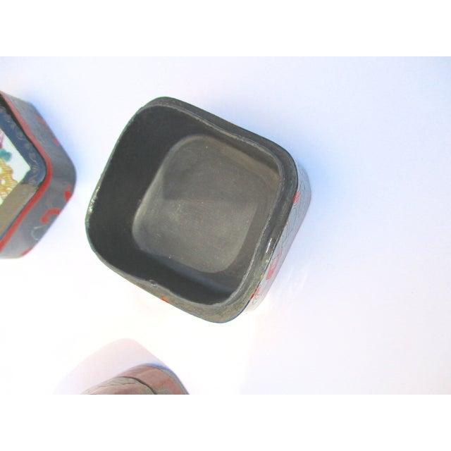 Porcelain Lacquer Glam Trinket Boxes - Set of 3 - Image 3 of 11