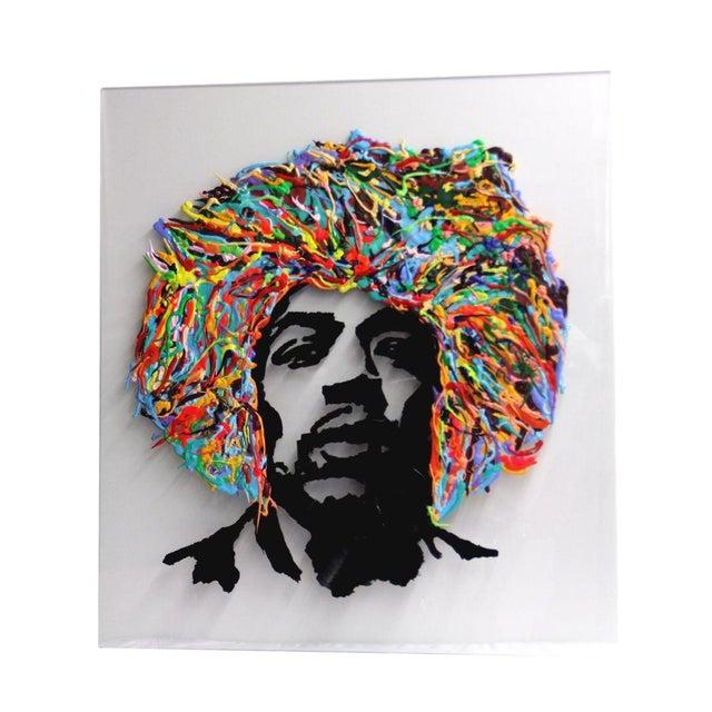 Jimmy Hendrix Portrait on Acrylic For Sale