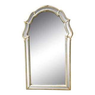 LaBarge Silver Leaf Wall Mirror For Sale