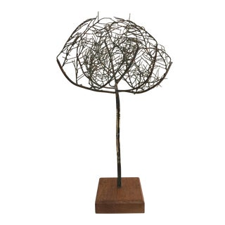Gerry Fox Modernist Copper Tree Sculpture