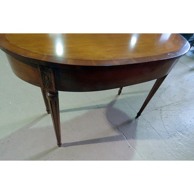 Mid 20th Century Louis XVI Style Inlaid Writing Desk For Sale - Image 5 of 6