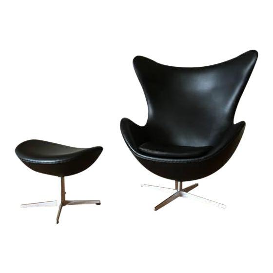 Arne Jacobson for Fritz Hansen Egg Easy Chair & Footstool - Image 1 of 2