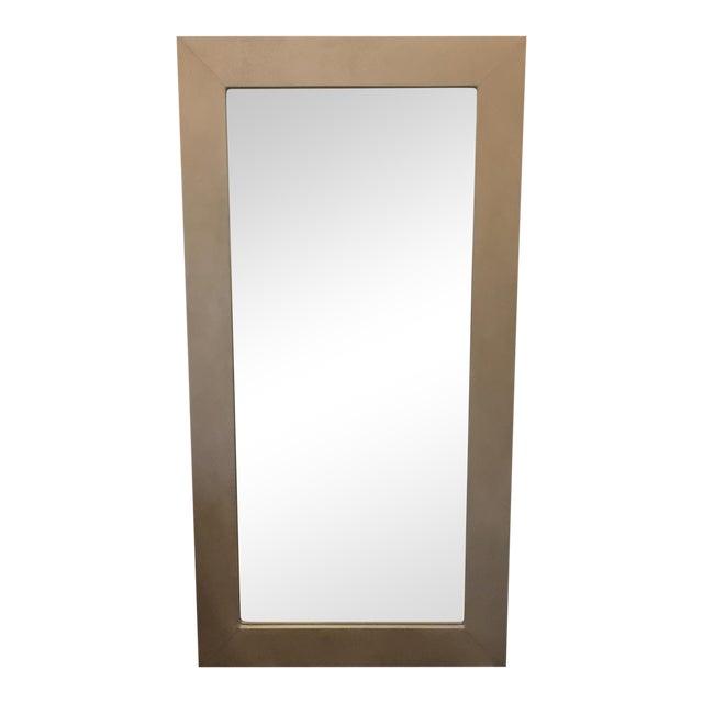 Large Ivory Shagreen Floor Mirror - Image 1 of 7