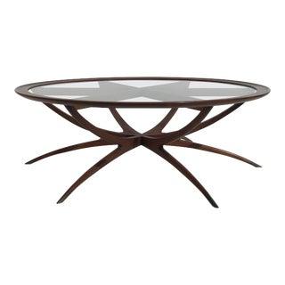 Danish Spider Leg Coffee Table Style of Carlo di Carli For Sale