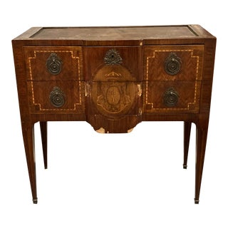 Louis XV/XVI Transitional Kingwood Parquetry & Marquetry Commode For Sale
