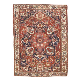 "Pasargad Antique Persian Serapi Rug - 9'8"" X 13'4"" For Sale"