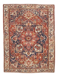 Image of Brick Red Traditional Handmade Rugs
