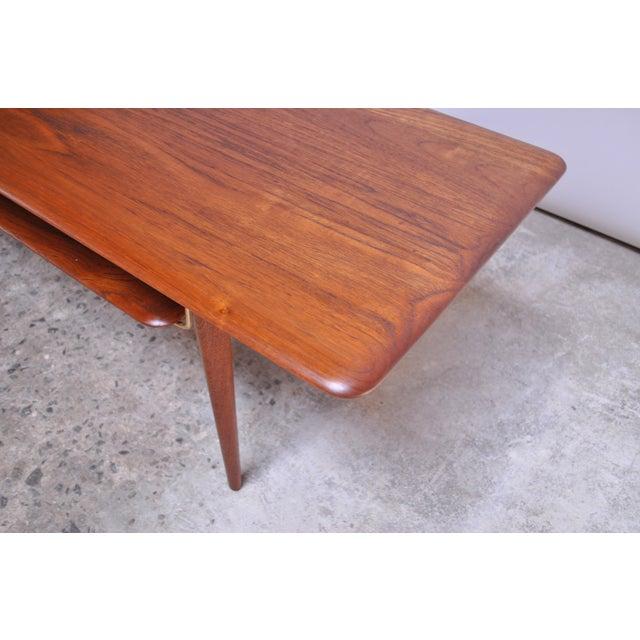 Peter Hvidt & Orla Mølgaard Nielsen Teak and Cane Coffee Table For Sale - Image 9 of 13