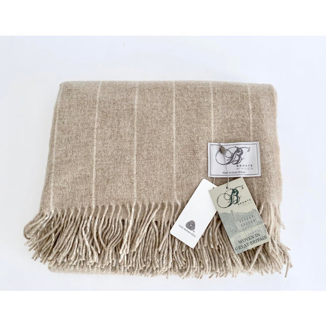 English Neutral Lambswool Throw Blanket For Sale In Los Angeles - Image 6 of 6