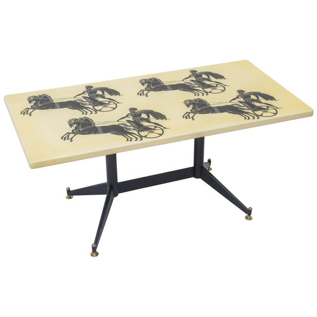 Piero Fornasetti Bighe Coffee Table For Sale - Image 11 of 11