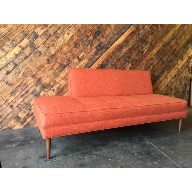 Mid Century Style Sofa: Mid Century Style Custom Day Bed Tweed Sofa
