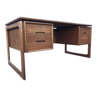 Mid Century Modern Danish Floating Desk by Dyrlund For Sale